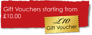 Gift vouchers starting at £10.00